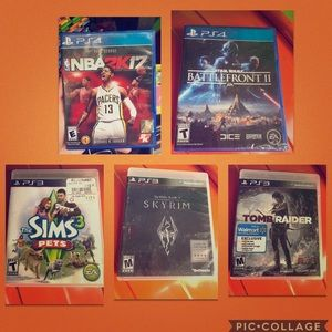 🎮 PS3 and PS4 Games 🎮 $35 for all FIVE